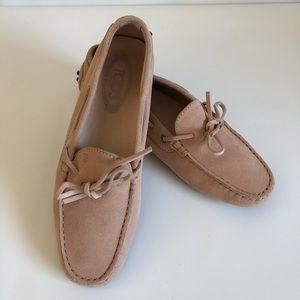 Tod's Suede Semi-Pointed Toe Loafers Size 8